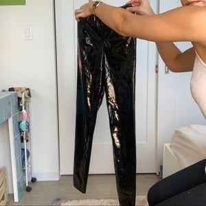 Aritzia black leather leggings